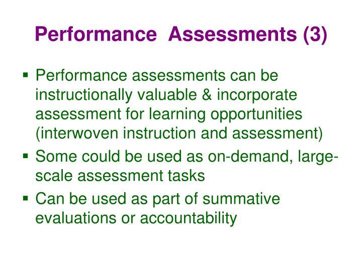 Performance  Assessments (3)