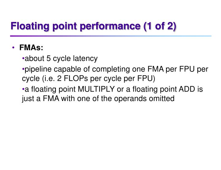 Floating point performance (1 of 2)