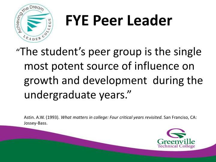 FYE Peer Leader