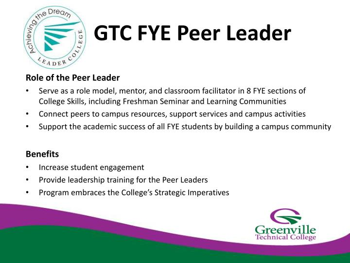 GTC FYE Peer Leader