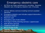 emergency obstetric care1