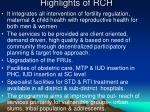 highlights of rch
