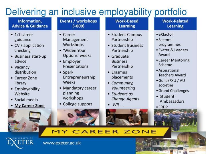 Delivering an inclusive employability portfolio