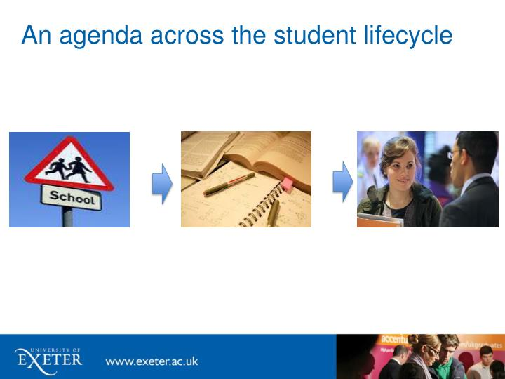An agenda across the student lifecycle