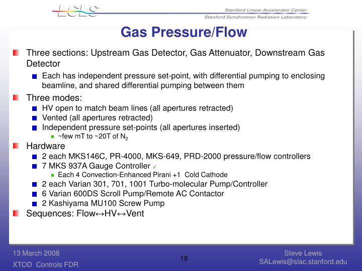 Gas Pressure/Flow