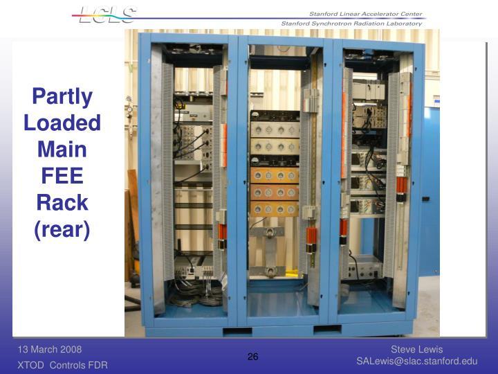 Partly Loaded Main FEE Rack (rear)
