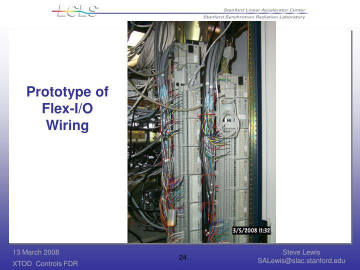 Prototype of Flex-I/O Wiring