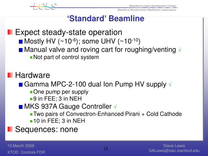 'Standard' Beamline