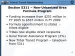 section 5311 non urbanized area formula program