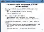three formula programs state administered