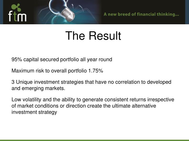 95% capital secured portfolio all year round