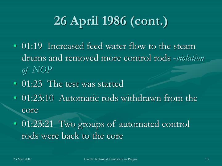 26 April 1986