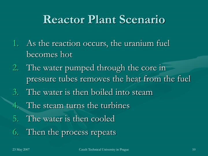 Reactor Plant Scenario