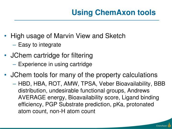 Using ChemAxon tools