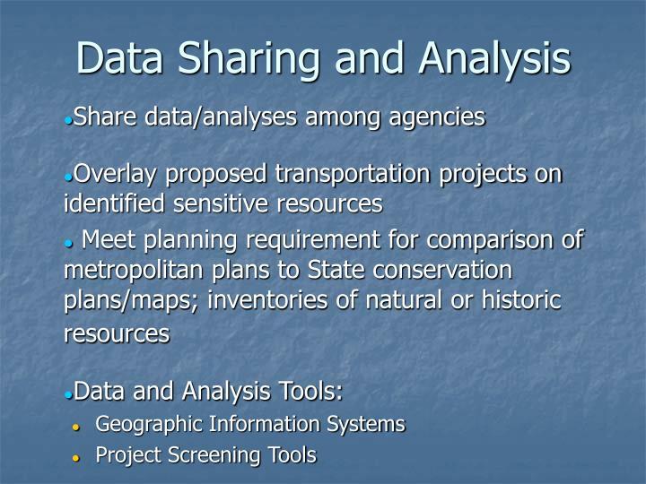 Data Sharing and Analysis