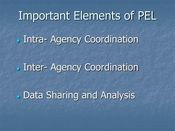 Important Elements of PEL