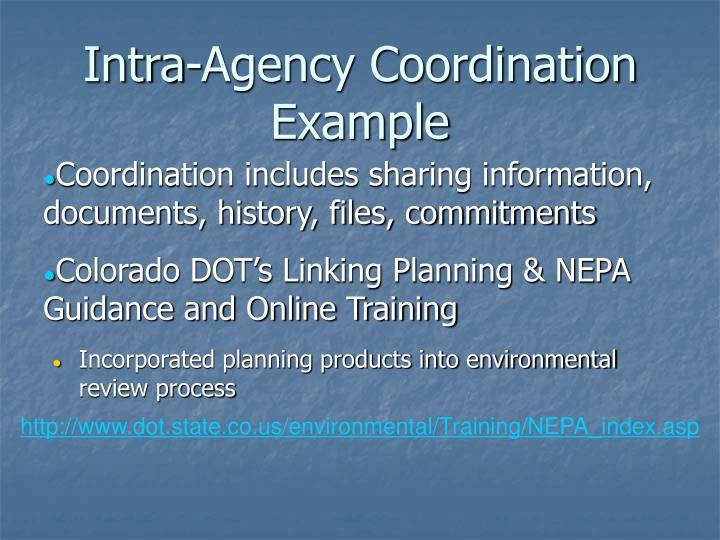 Intra-Agency Coordination
