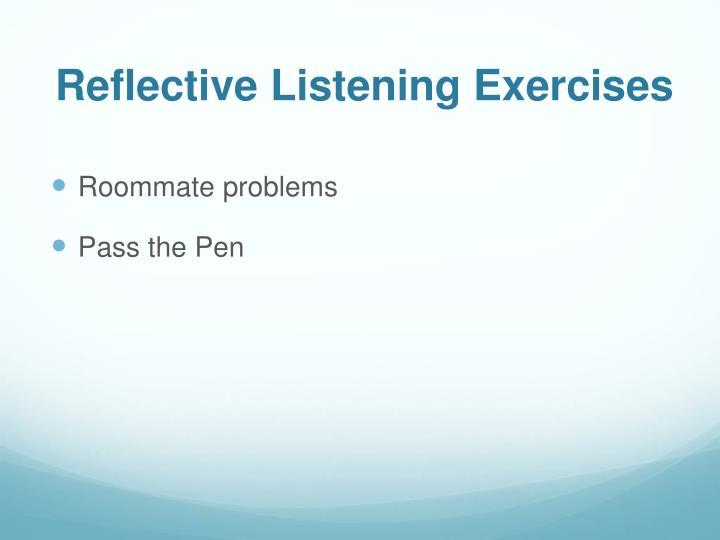 Reflective Listening Exercises