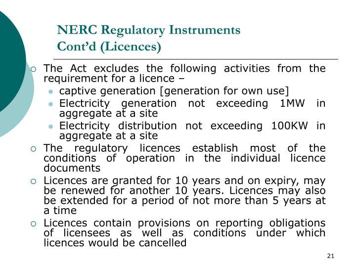 NERC Regulatory Instruments