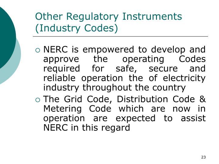 Other Regulatory Instruments
