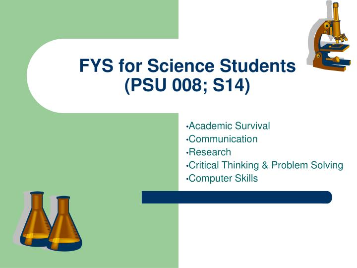 fys for science students psu 008 s14