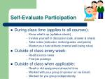 self evaluate participation