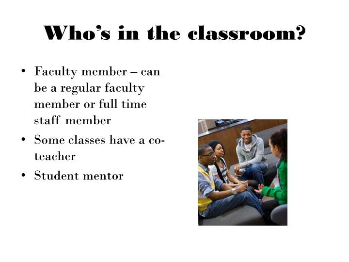 Who's in the classroom?