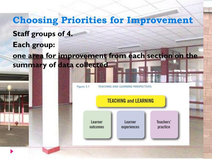 Choosing Priorities for Improvement