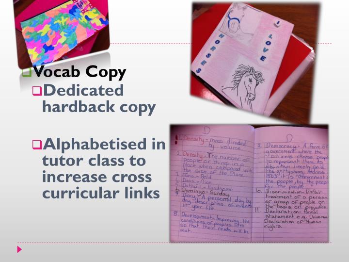 Vocab Copy