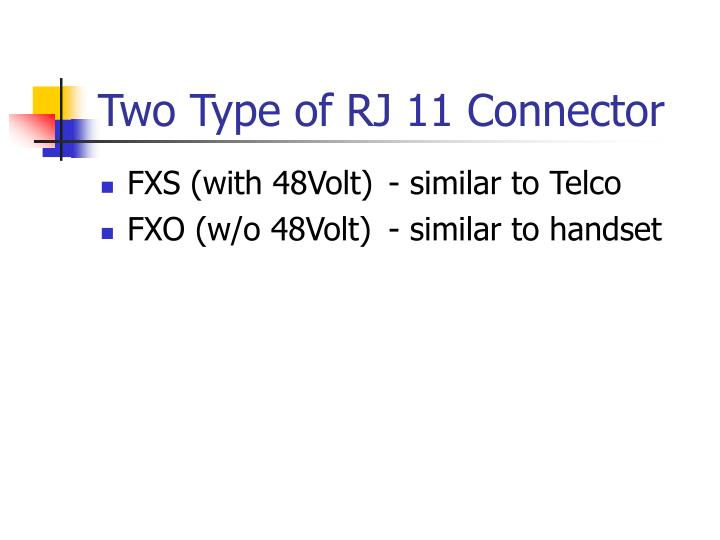 Two Type of RJ 11 Connector