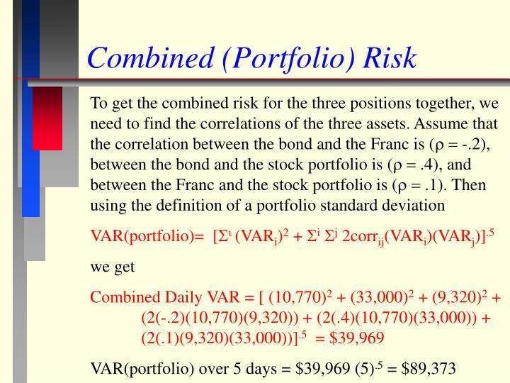 Combined (Portfolio) Risk