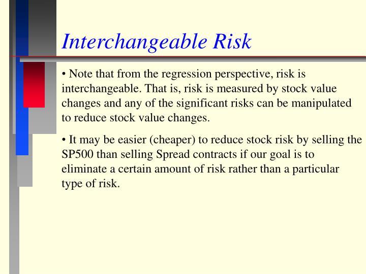 Interchangeable Risk