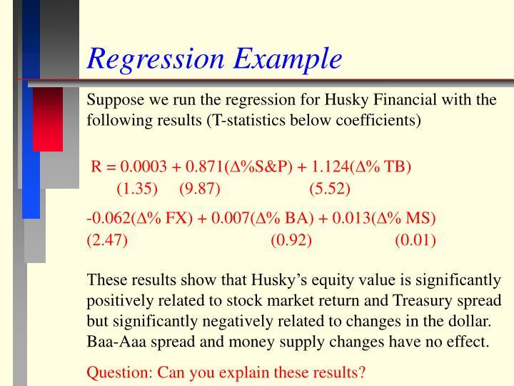 Regression Example