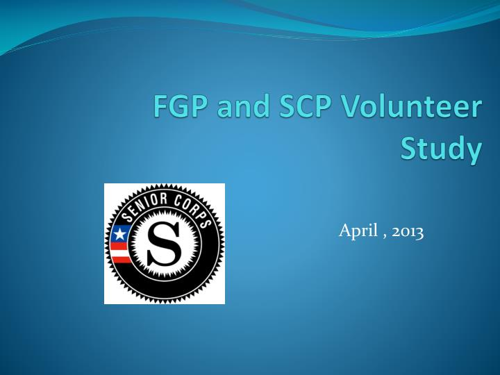 FGP and SCP Volunteer