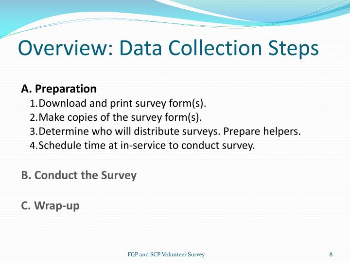 Overview: Data Collection Steps