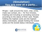 simulation you are now at a party