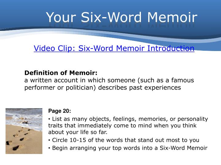 Your Six-Word Memoir