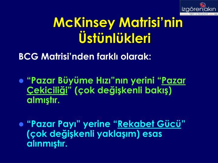 McKinsey Matrisi'nin