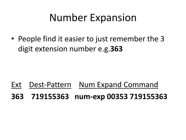 Number Expansion