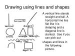 drawing using lines and shapes
