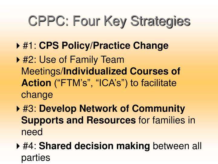 CPPC: Four Key Strategies