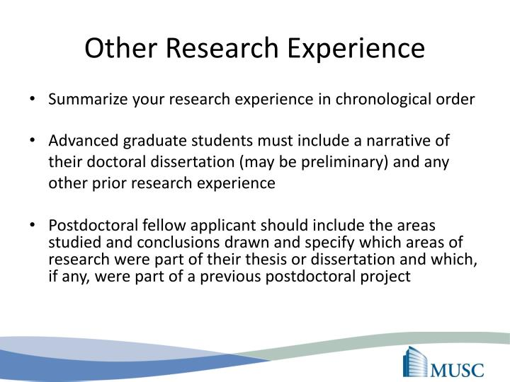 Other Research Experience
