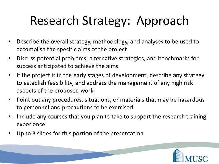 Research Strategy:  Approach