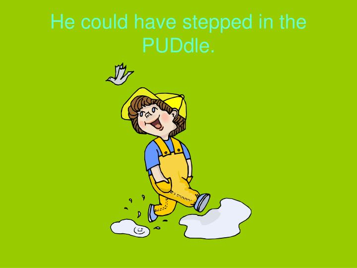 He could have stepped in the PUDdle.