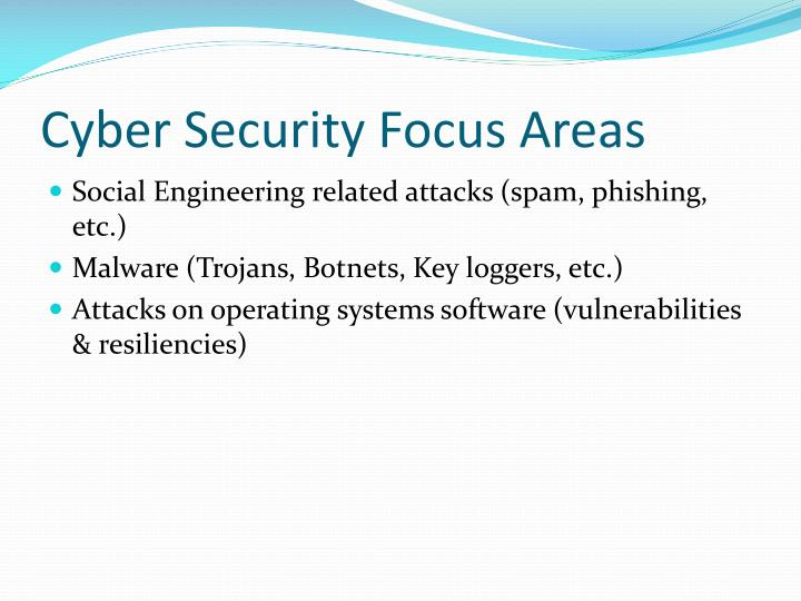 Cyber Security Focus Areas