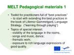 melt pedagogical materials 1