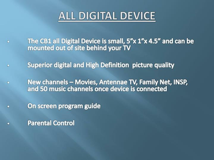 All Digital Device