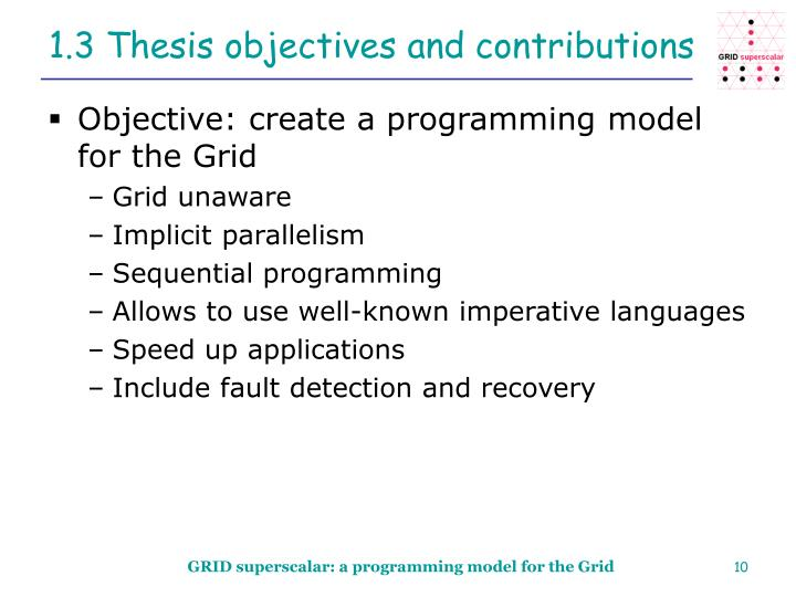 1.3 Thesis objectives and contributions