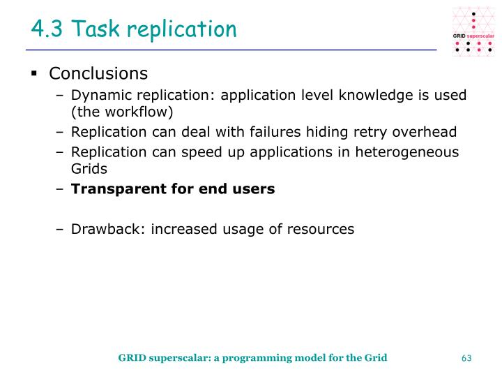 4.3 Task replication