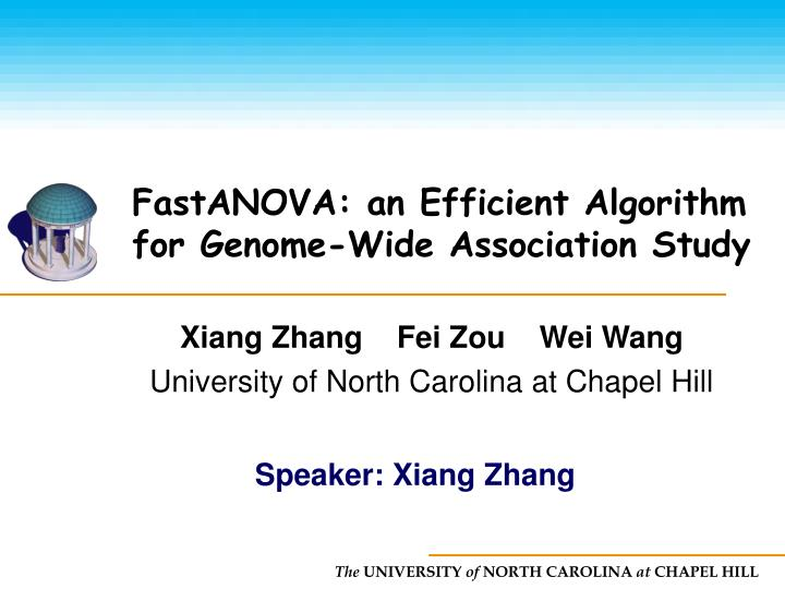 fastanova an efficient algorithm for genome wide association study